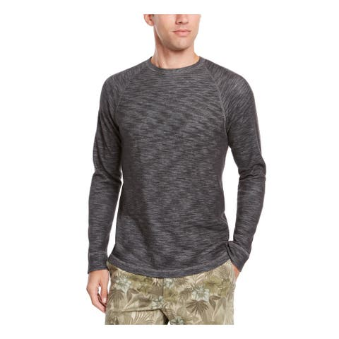 TOMMY BAHAMA Mens Gray Lightweight, Heather Long Sleeve Crew Neck Classic Fit Sweatshirt S