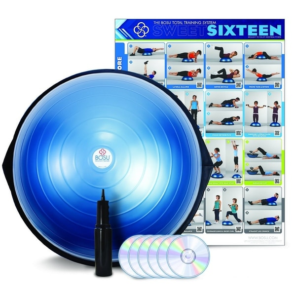 BOSU Balance Trainer Home Use with DVD & Pump - bosu home use with manual and dvd