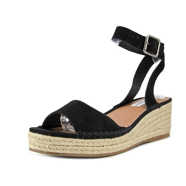 bb72ec04157 Shop Steve Madden Elody Women Open-Toe Suede Black Slingback Sandal ...