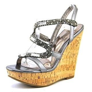 Carlos by Carlos Santana Olympia Women Open Toe Synthetic Gray Wedge Sandal