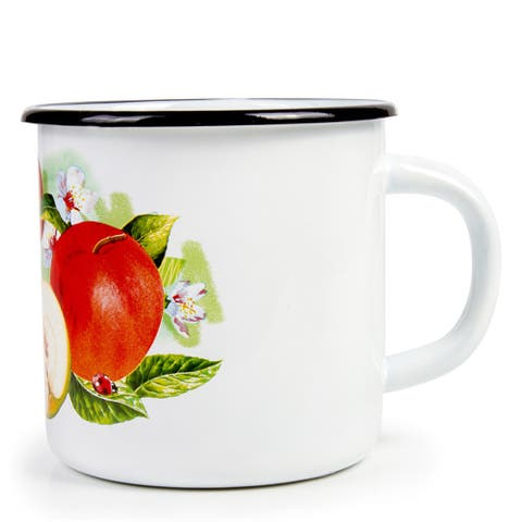 STP-Goods 33.8-oz Fragrant Apple Enamelware Mug