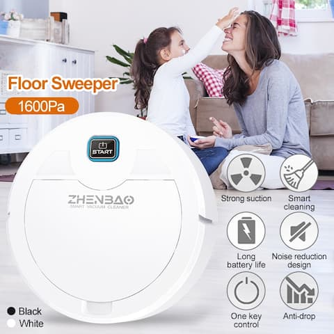 Smart Vacuum Cleaner Auto Floor Sweeper 1600Pa USB Rechargeable Automatic Floor Sweeping Robot For Home Cleaning