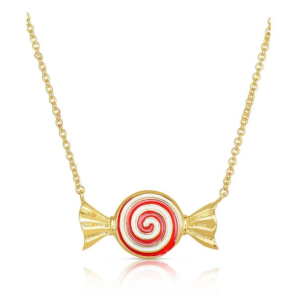 Lily Nily Girl's Candy Swirl Necklace - Red