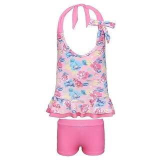 a5a2bb86ab Shop Sun Emporium Baby Girls Pink Blue Vintage Blossom 2 Pc Tankini Swimsuit  - Free Shipping On Orders Over $45 - Overstock - 23061547