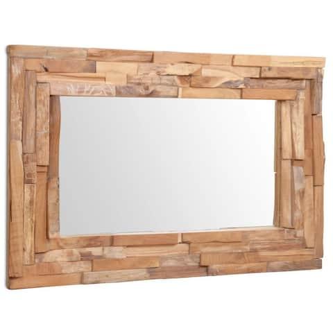 vidaXL Decorative Mirror Teak Rectangular 2 sizes