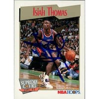 Signed Thomas Isiah Detroit Pistons 1991 NBA Hoops Basketball Card autographed