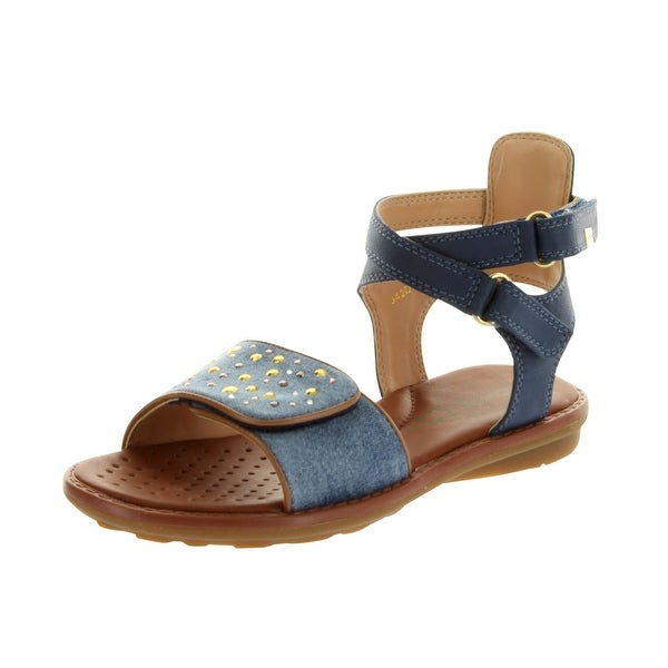 Geox Girls' Milk C Open Toe Sandals - avio - 29 m eu / 11 m us little kid