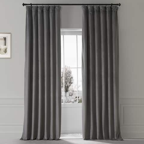 Exclusive Fabrics Signature Plush Velvet Hotel Blackout Curtain