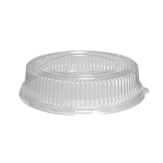 "12"" Plastic Dome Lid Clear"