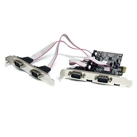 StarTech IO Card PEX4S553 4-Port Native PCI Express RS232 Serial Card with 16550 UART Retail