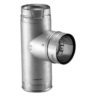 """Duravent 4PVL-TR Pellet Vent Single Tee with Clean-Out Tee Cap, 4"""""""