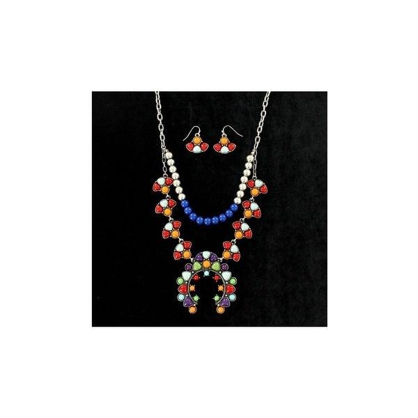 Blazin Roxx Jewelry Womens Necklace Earrings Multi-Colored 29125