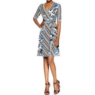 Sandra Darren Womens Casual Dress Matte Jersey Printed - 12