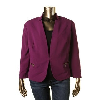 Nine West Womens Plus Zip-Pocket Stretch Jacket - 24W