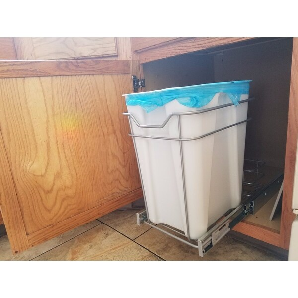 Shop ClosetMaid Premium 24 Quart Cabinet Pull Out Trash Bin   Free Shipping  Today   Overstock   14456726
