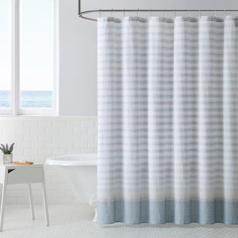Tommy Bahama Tidal Stripe Beige Shower Curtain