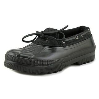 Sugar Swippery Women Moc Toe Synthetic Black Boat Shoe