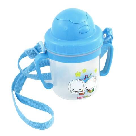 Blue Plastic Star Print Stud Press Drinking Water Bottle 450ml for Kid