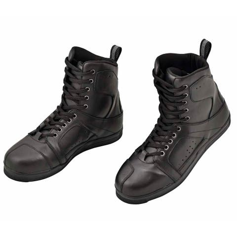 WICKED STOCK Classic Leather Mens Motorcycle Boots