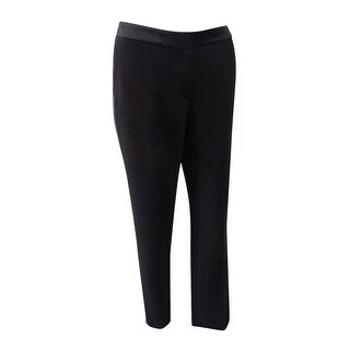 Tommy Hilfiger Women's Satin-Stripe Pants - Black