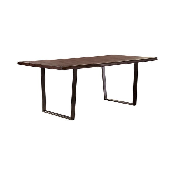 Furniture of America Tver Rustic Oak 78-inch Metal Base Dining Table. Opens flyout.