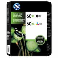 HP 60XL Black and Tri-color High Yield Original Ink Cartridges D8J61BN Combo pack - Multi-color