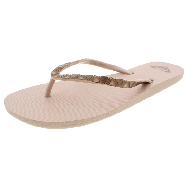46b06296f3e83 Shop Roxy Womens Flip-Flops Textured - 9 medium (b