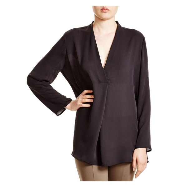Nic + Zoe Womens Blouse Georgette Surplice