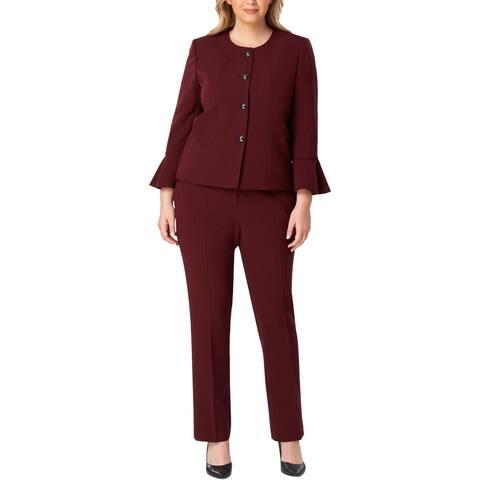 Tahari ASL Womens Plus Pant Suit Professional Business Wear