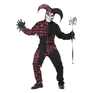 California Costumes Sinister Jester Adult Costume - Black/Red