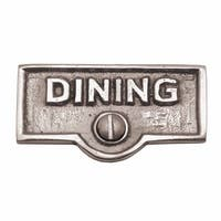Switch Plate Tags DINING Name Signs Labels Chrome Brass | Renovator's Supply
