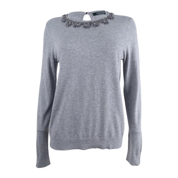 Shop Lauren by Ralph Lauren Women s Jewel-Neck Sweater - Free ... 1875ca18d