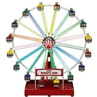 Mr. Christmas Animated Musical LED 1939 World's Fair Ferris Wheel Decoration #79799 - multi