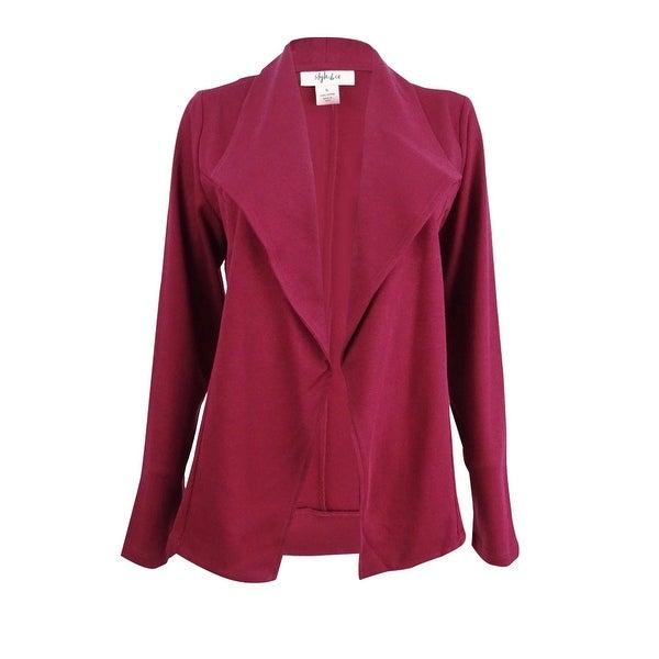 9a98f26ec7f08 Shop Style & Co Women's Knit Blazer (S, Plum Tart) - Plum Tart - S - Free  Shipping On Orders Over $45 - Overstock - 27279168