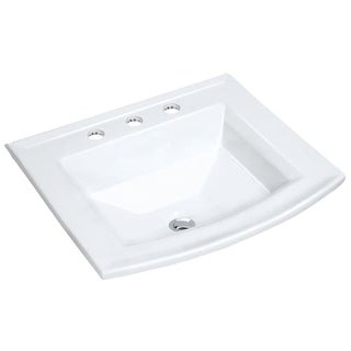 "Miseno MLD-2320-3 22-5/8"" Drop In Bathroom Sink with 3 Holes Drilled and Overflo"