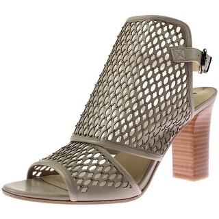 Via Spiga Womens Fleur Leather Open Toe Slingback Sandals