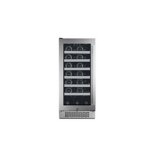 Avallon AWC151SZLH 15 Inch Wide 27 Bottle Capacity Single Zone Wine Cooler with Left Swing Door