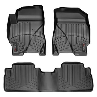 WeatherTech 443031-441192 Black Front & Rear FloorLiner: Mercury Mariner 2009 - 2010