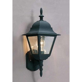 "Volume Lighting V8313 1 Light 18.5"" Height Outdoor Wall Sconce with Clear Beveled Glass"