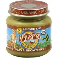 Earth's Best - Organic Peas & Brown Rice ( 12 - 4 OZ)