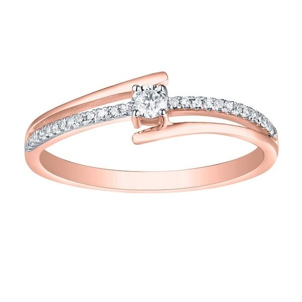 Prism Jewel G-H//I1 Round Natural Diamond Stackable Designer Ring,