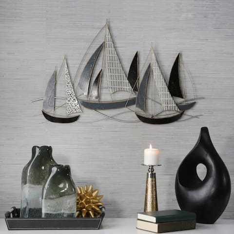 Metal Boat Wall Accent