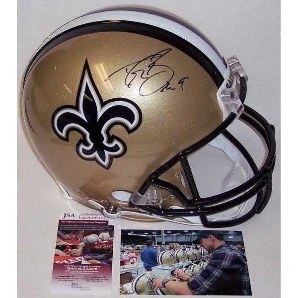 4ac2f8d4 Drew Brees Autographed Hand New Orleans Saints Full Size Authentic Helmet  JSA