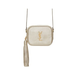 Saint Laurent YSL Blogger Bag In Pale Gold Grained Metallic Leather 425317