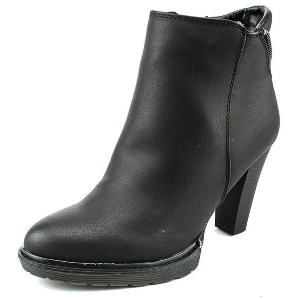 White Mountain Abbot Women Round Toe Synthetic Black Ankle Boot