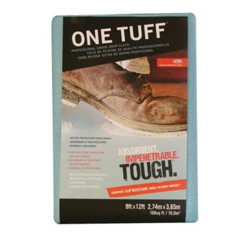 Trimaco 90019 One Tuff Drop Cloth, 9'X12'