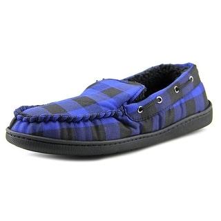 Wembley 71WE6735 Men Round Toe Canvas Blue Slipper