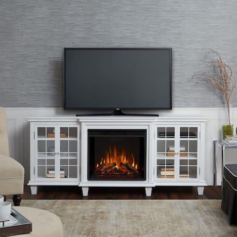 Marlowe Media Electric Fireplace White - 70Lx21.5x30.43H