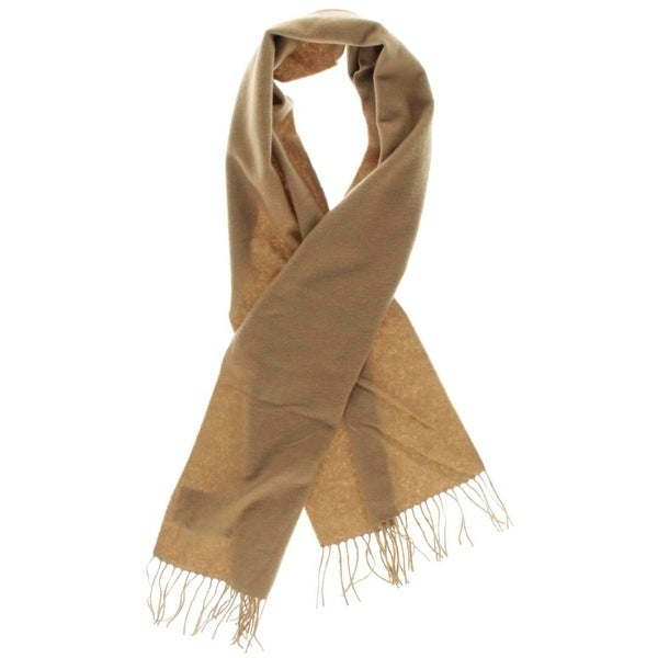 Amicale Mens Winter Scarf Cashmere Fringe - o/s