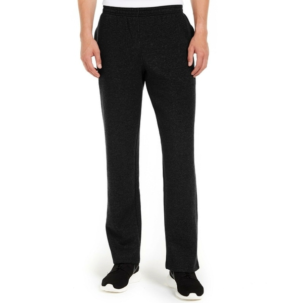 Ideology Mens Sweatpants Black Size Large L Open-Cuff Solid Stretch. Opens flyout.
